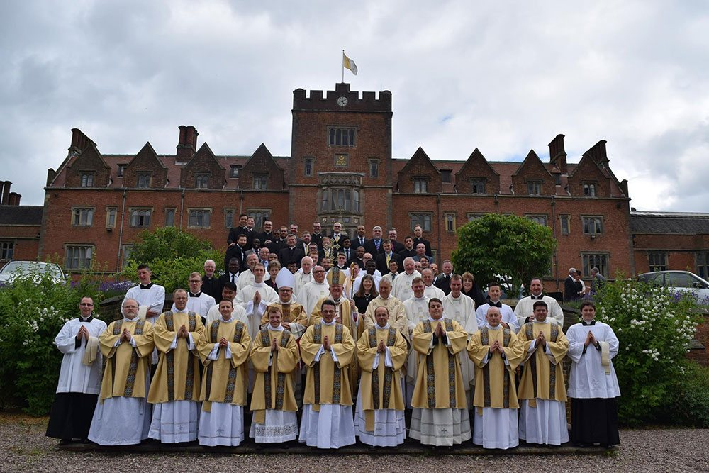 Oscott priests outside college image